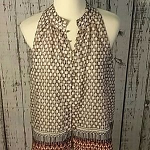 Anthropologie Maeve large sleeveless blouse button